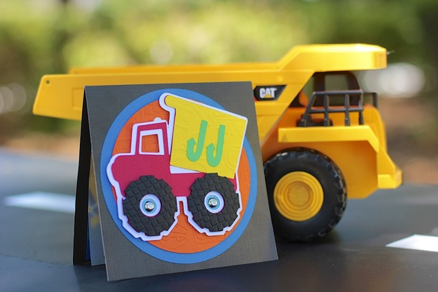 truck birthday party invitation
