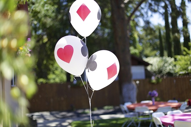balloons with card theme