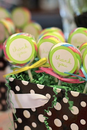 lolipops with thank you