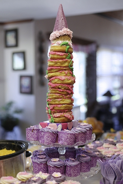 princess themed tower of cake