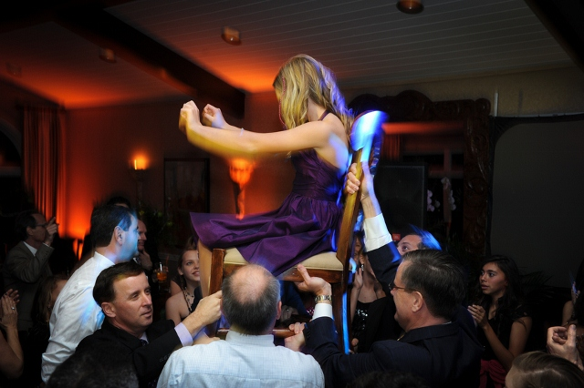bat mitzvah dance girl on chair
