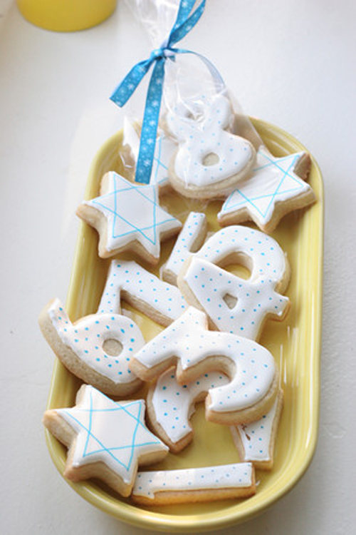 decorated cookies for chanukah