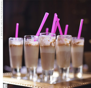 chocolate milk shakes with pink straws