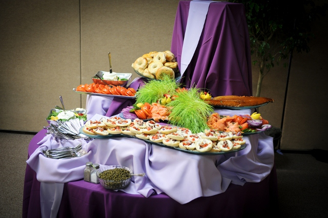 styled food buffet bat mitzvah