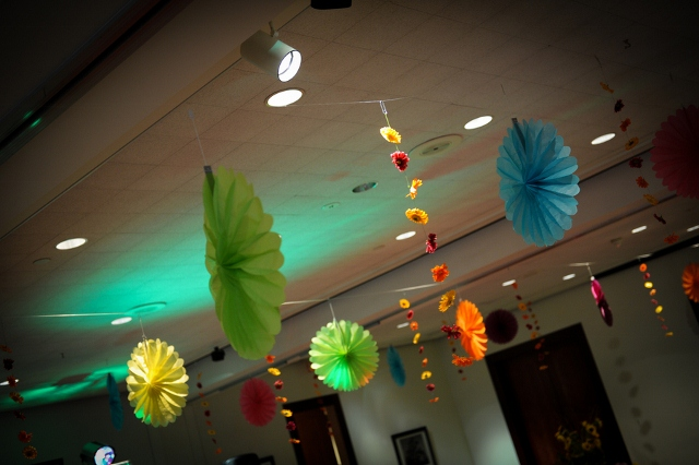 colorful paper decorations