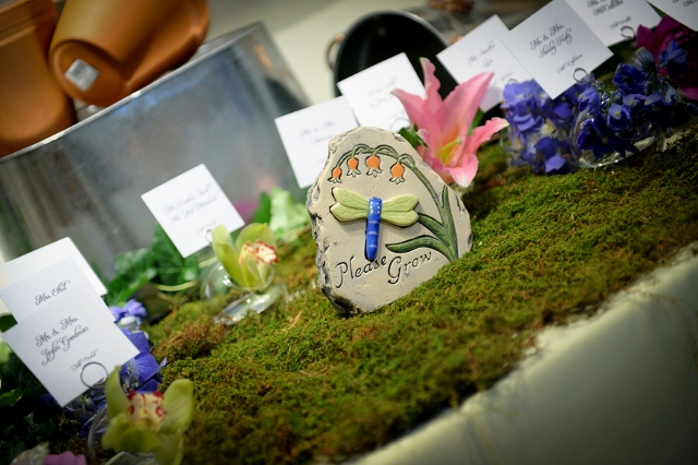 garden theme escort card table