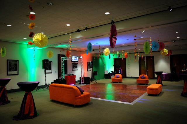bat mitzvah party lounge area