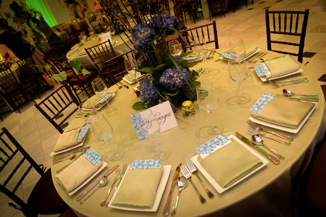 tablescape with violets