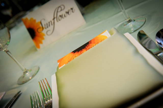 tablescape with sunflower