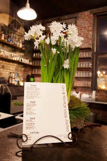 flowers and drink menu