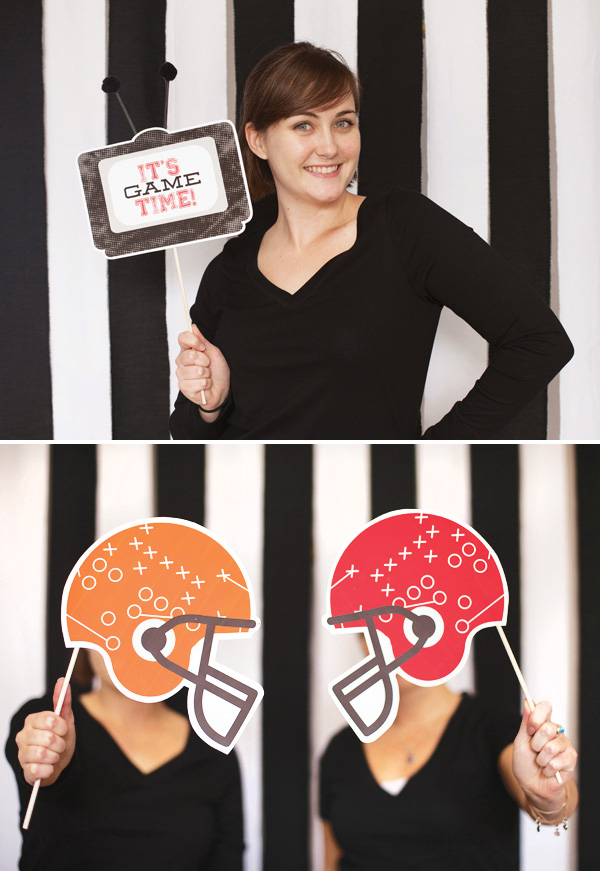 photo booth props football