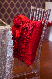 chair decorated for Valentine's Day