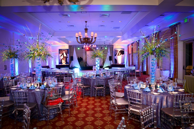 bar mitzvah tables in silver