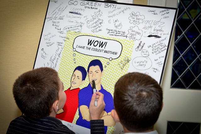 signatures on bar mitzvah poster