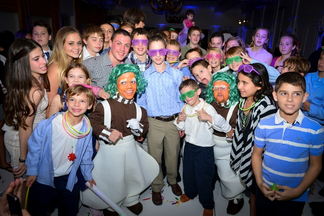 oompa loompa and group of young teens