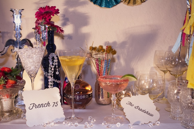 bachelorette party drink table
