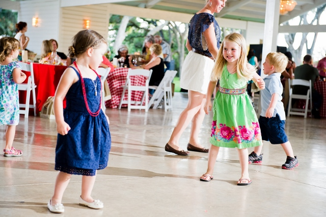 small children dancing at party