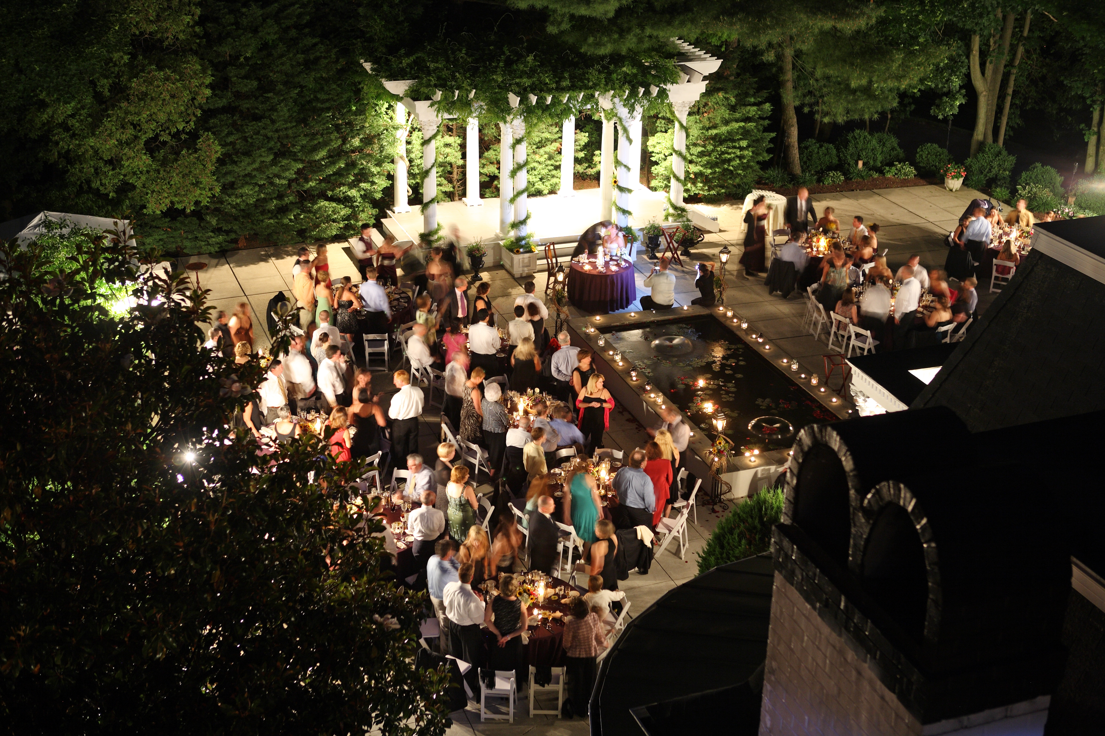 Venue spotlight ceresville mansion for Terrace night