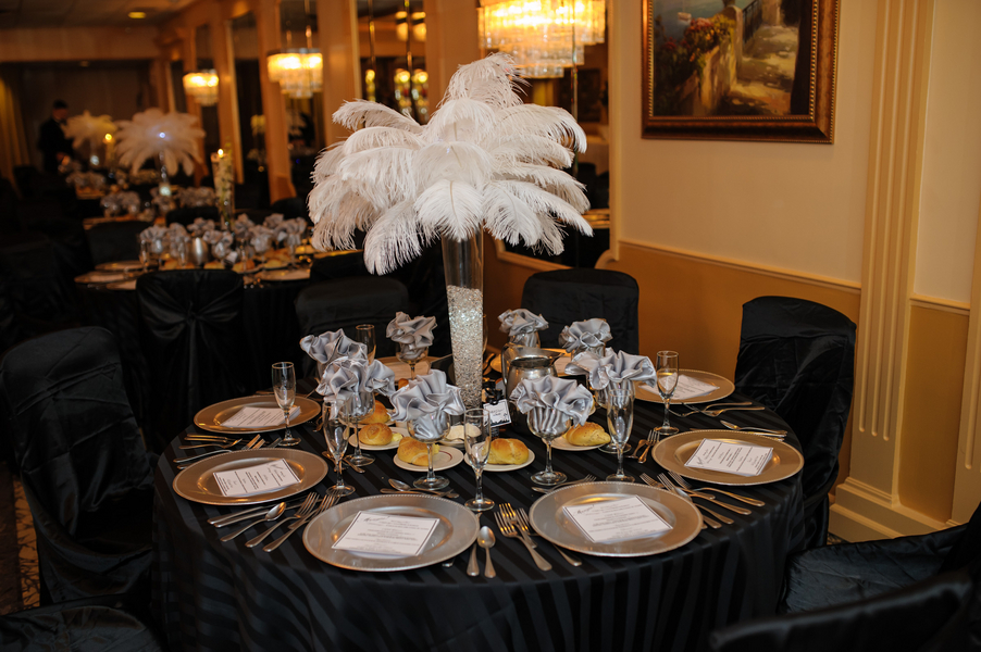 Sinatra Themed 70th Birthday Party Table Decorating Ideas Decorations
