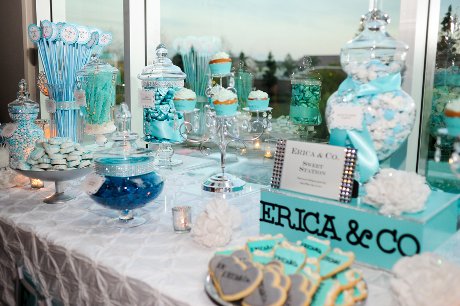 Retirement party tables retirement party decorating ideas - Tiffany Themed Sweet 16