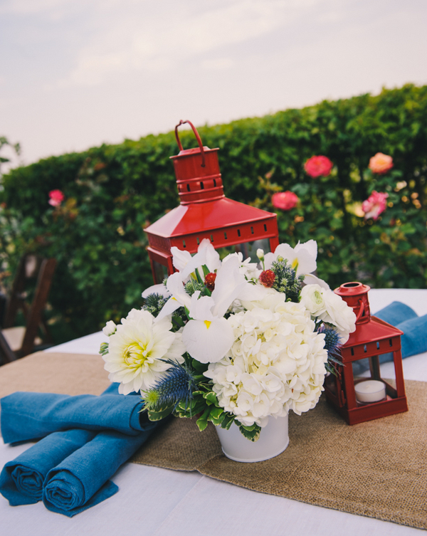 Centerpiece ideas for an outdoor Memorial Day party