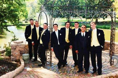 Groomsmen in Yellow