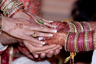 mehndi on bride's hands