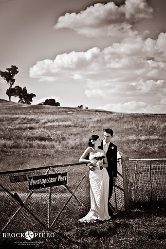 outdoor wedding with dramatic clouds