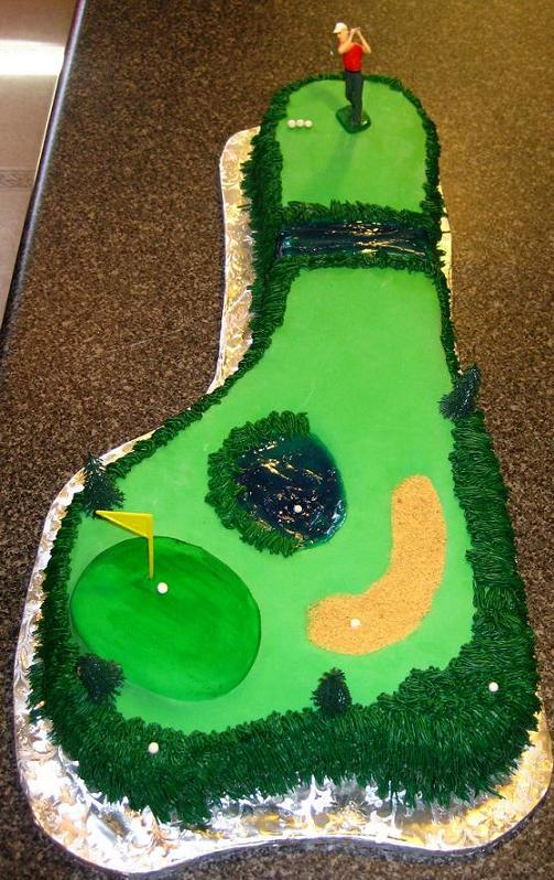 grooms cake with golf course