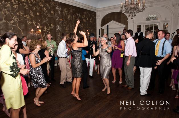enthusiastic wedding dancing
