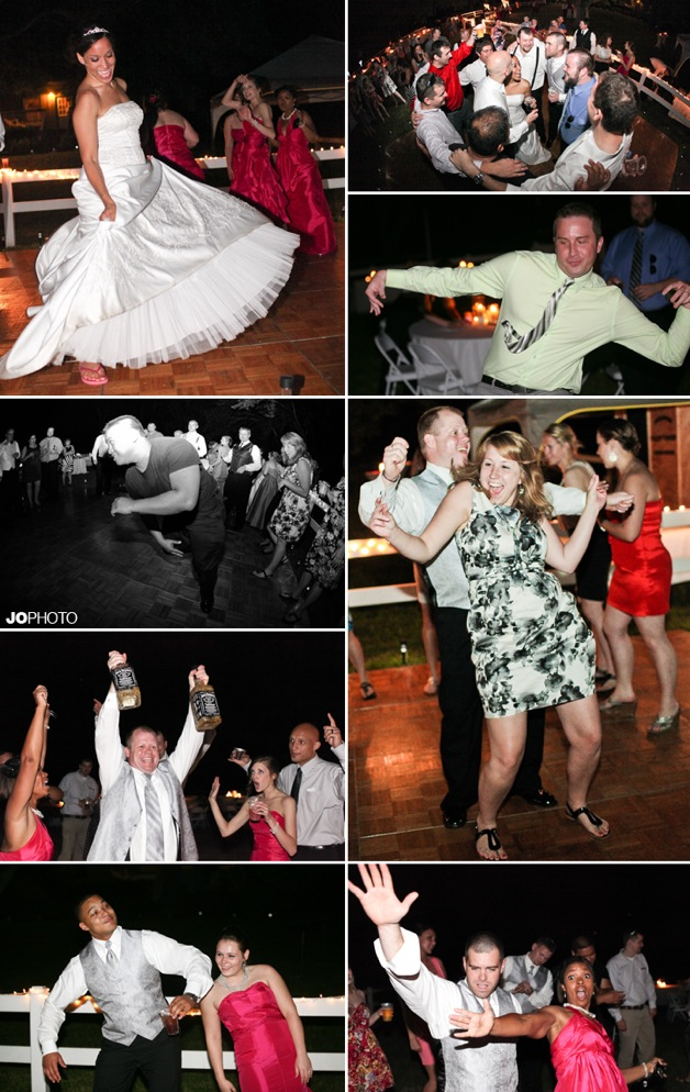 outdoor wedding with dancing