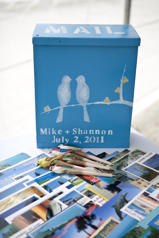 guest book box in beach blue