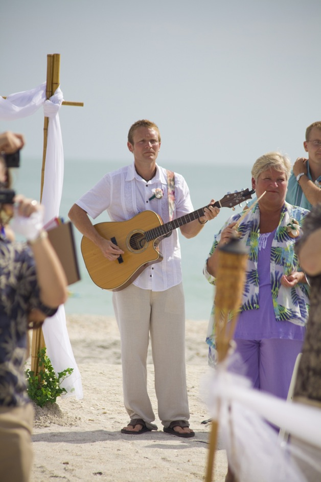 groom with guitar casual
