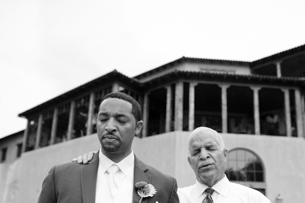 father and groom before wedding
