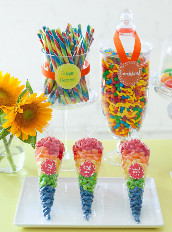 colorful kids party table