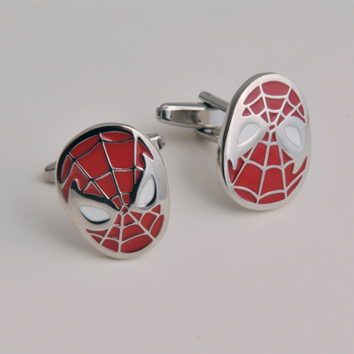 cufflinks with spiderman