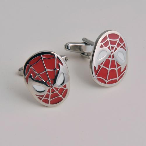 cufflinks with spiderman