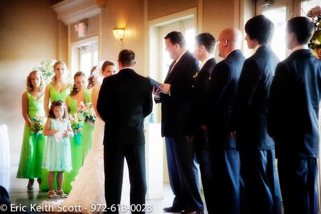 bright green bridal party dresses