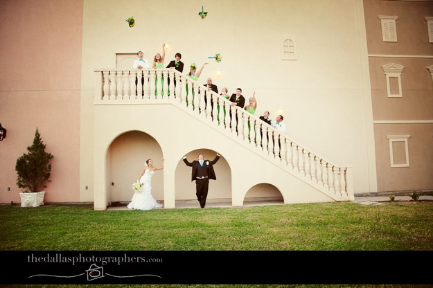 celebrating bridal party