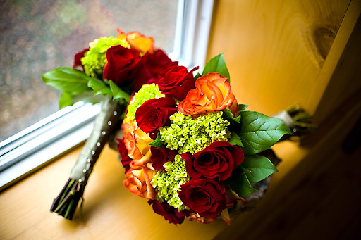 bouquets with fall colors