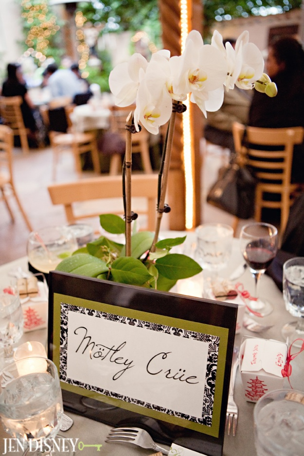 white tablescape with orchids