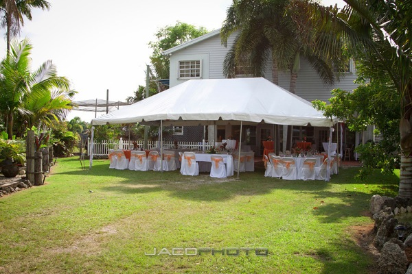 outdoor tent set up for wedding