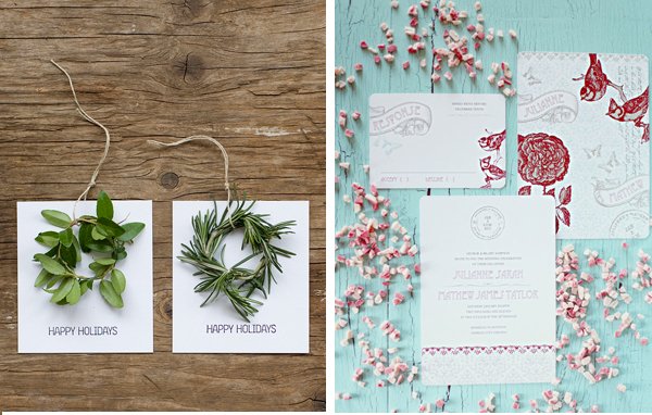 wedding invitations and favors christmas