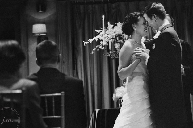 bride and groom hug after wedding ceremony