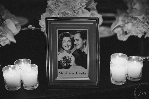 hollywood style place card