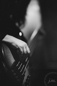 close up guitarist