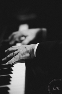 close up of piano player