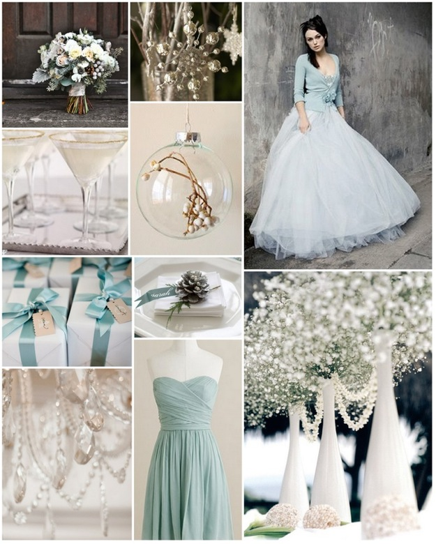 white winter wedding mood board