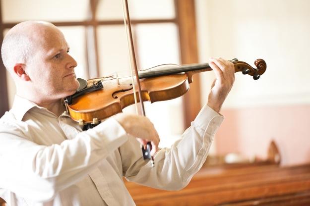 violin in church