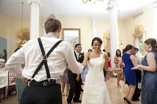 swing dance with bride and groom